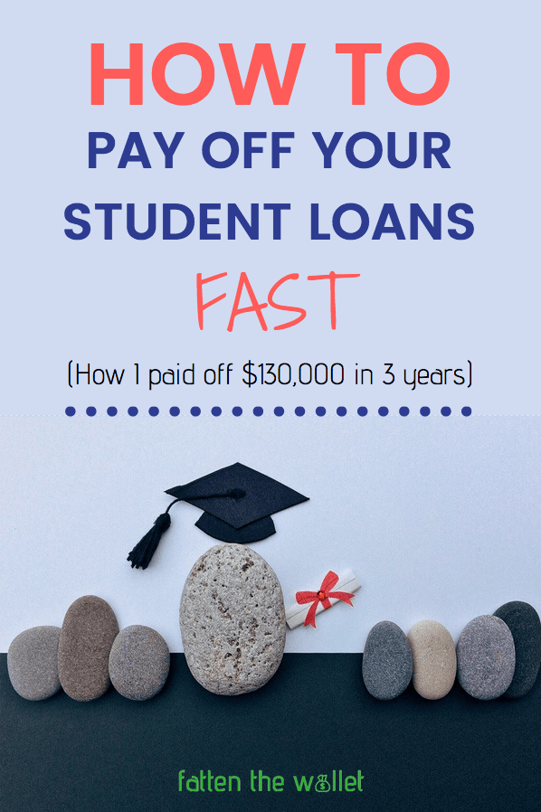 how to pay off your student loans fast