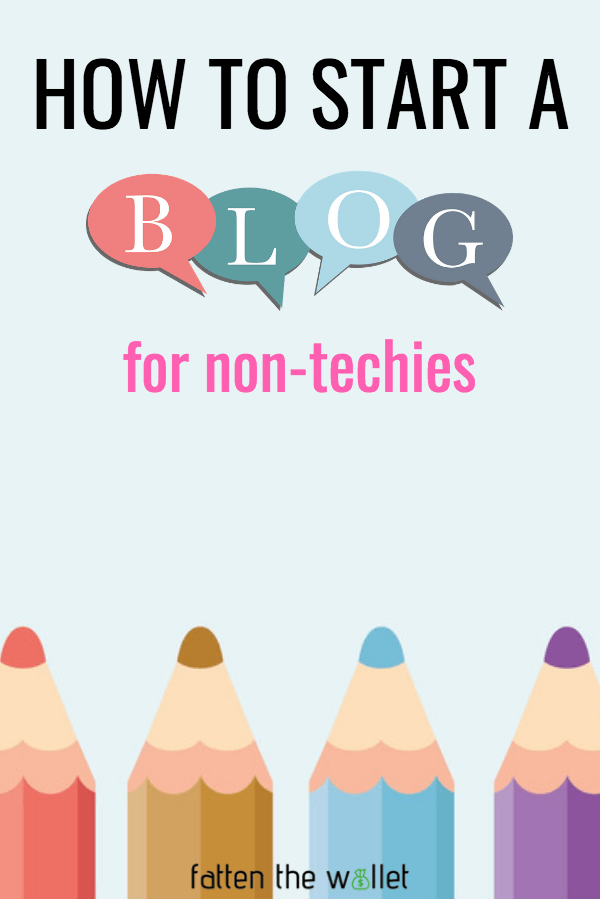 how to start a blog for non-techies