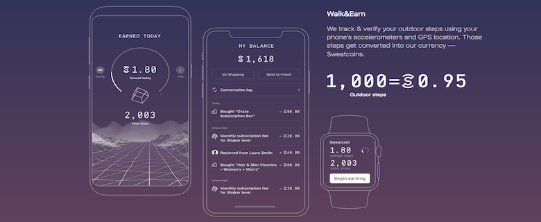 get paid to walk with sweatcoin. get paid to be healthy